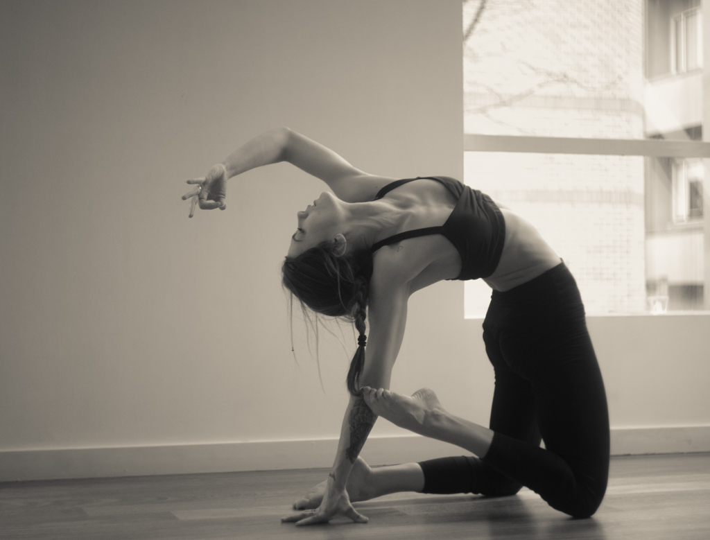 Variant of Camel Post | Ustrasana | Yoga | Leiah Luz